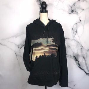 🦋AE🦋 100% cotton black hoodie knit top